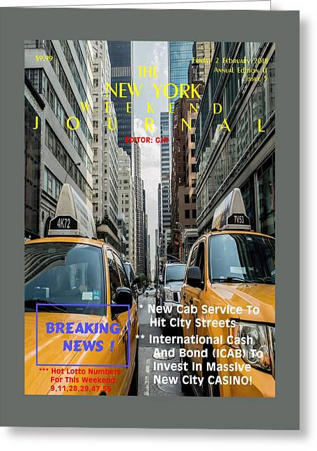 Concept Magazine Cover For The Imaginary New York  Weekend Journal Of 2 February 2018 Greeting Card