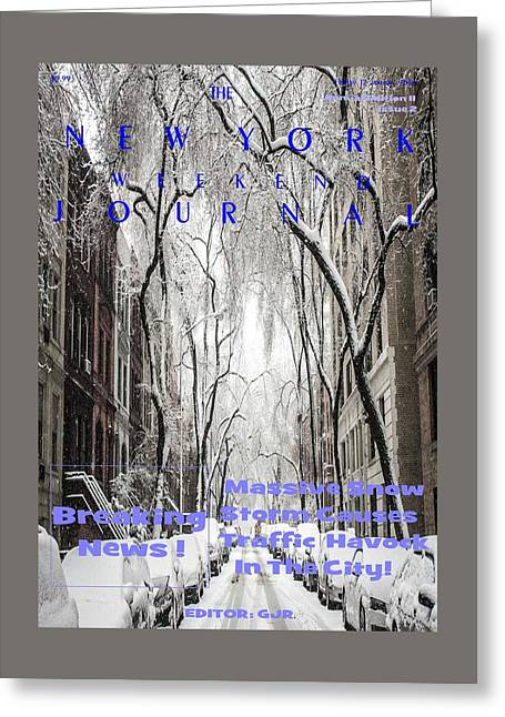 Concept Magazine Cover For The Imaginary New York Weekend Journal Of 12 Jan 2018 Greeting Card