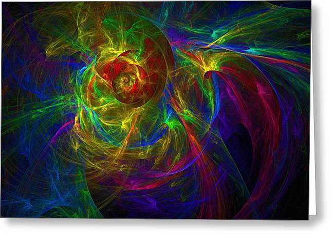 Conceptual Alchemy Greeting Card by Lyle Hatch