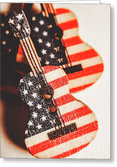 Concert Of Stars And Stripes Greeting Card