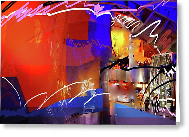 Greeting Card featuring the digital art Concert Stage by Walter Fahmy