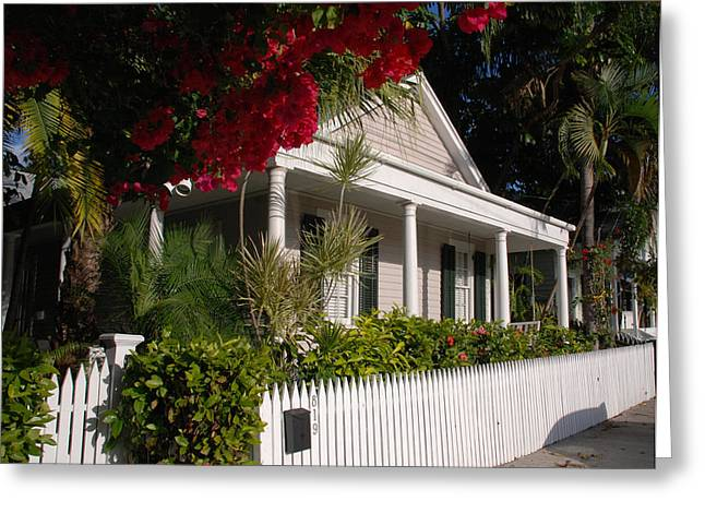 Conch House In Key West Greeting Card by Susanne Van Hulst
