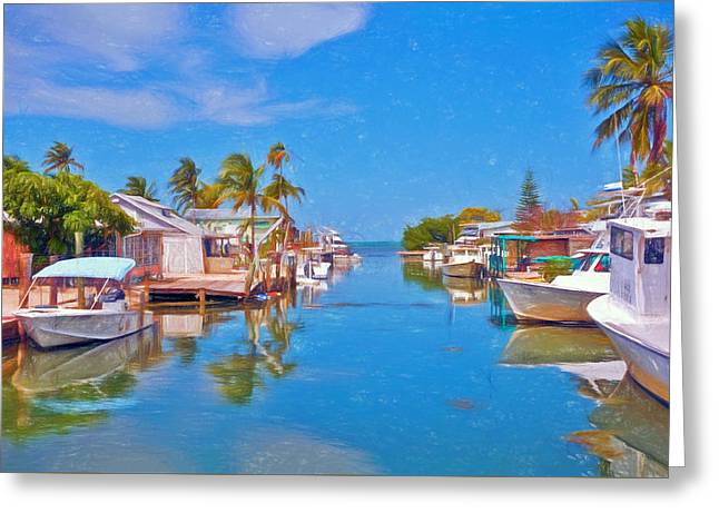Conch Key Waterfront Living 3 Greeting Card