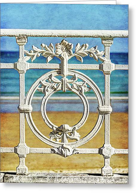 Concha Bay Railing In San Sebastian Greeting Card