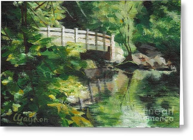 Concord River Bridge Greeting Card