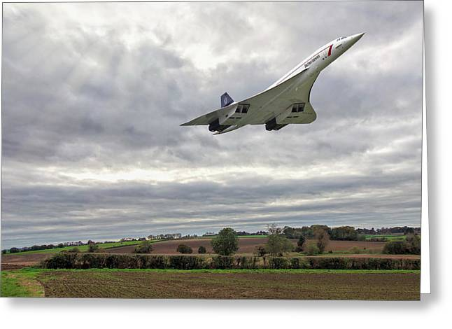 Greeting Card featuring the photograph Concorde - High Speed Pass by Paul Gulliver