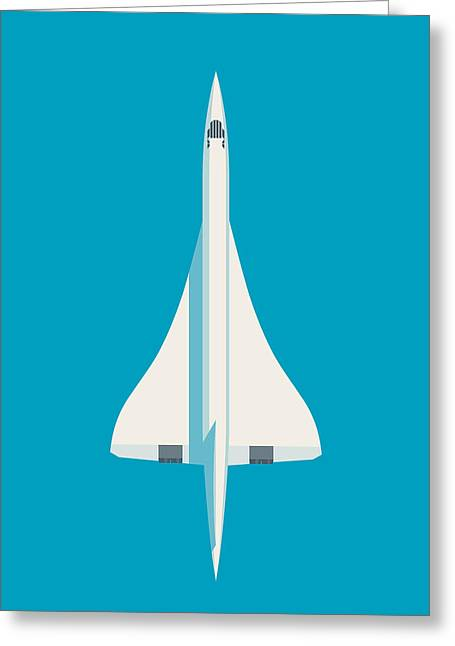 Concorde Jet Airliner - Cyan Greeting Card