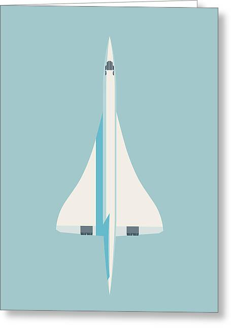 Concorde Jet Airliner - Sky Greeting Card