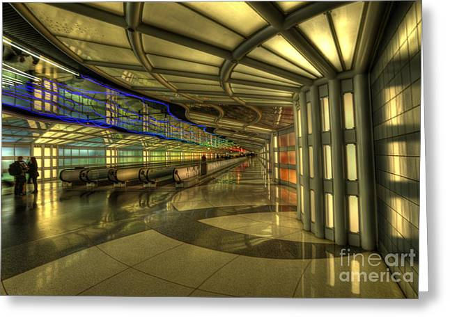Concourse Pedway Greeting Card by David Bearden