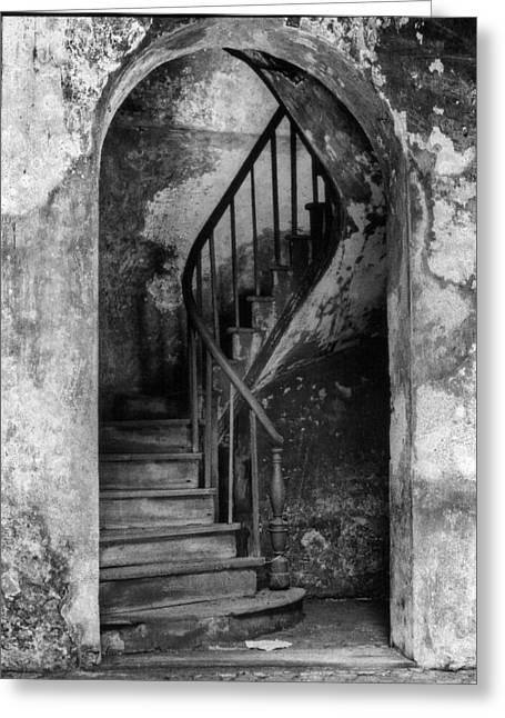 Concrete And Stairwell Greeting Card