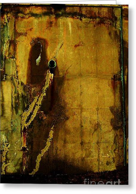 Concrete Canvas Greeting Card by Reb Frost