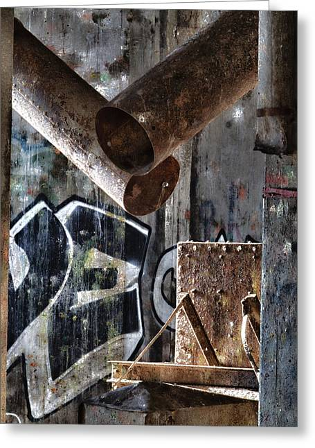 Urban Exploration Greeting Cards - Concrete Central 8 Greeting Card by Chuck Alaimo