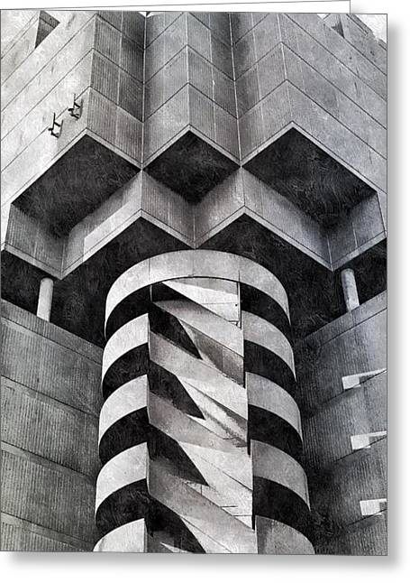 Concrete Geometry Greeting Card