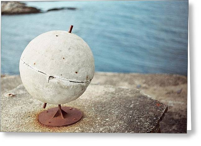 Concrete Globe Greeting Card by Gregory Barger
