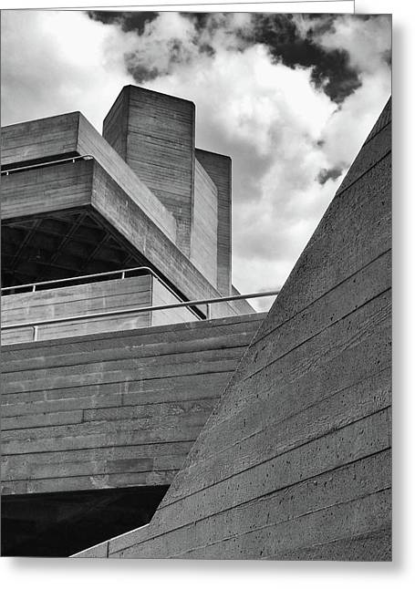 Concrete Landscape - Royal National Theatre Greeting Card