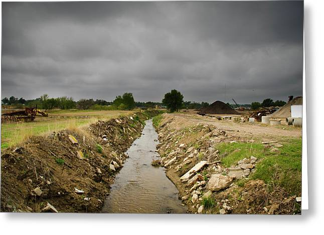 Flux Photography Studios Greeting Cards - Concrete River 2 Greeting Card by Matthew Angelo