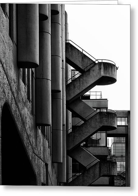 Concrete Stairways Greeting Card