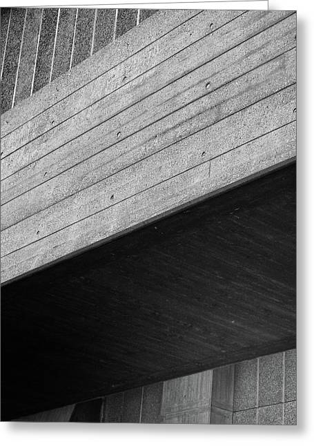 Concrete Textures - National Theatre London  Greeting Card