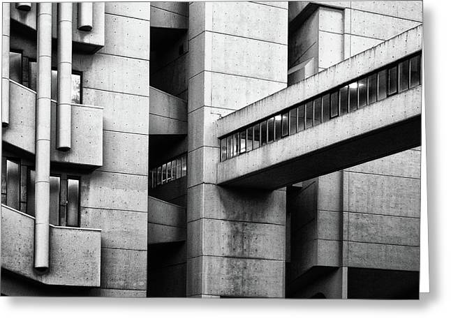 Concrete Walkway Greeting Card by Philip Openshaw