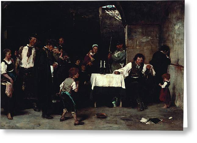 Condemned Cell Greeting Card by Mihaly Munkacsy