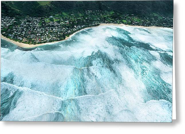Condition Black - Sunset Beach 2015 Greeting Card by Sean Davey