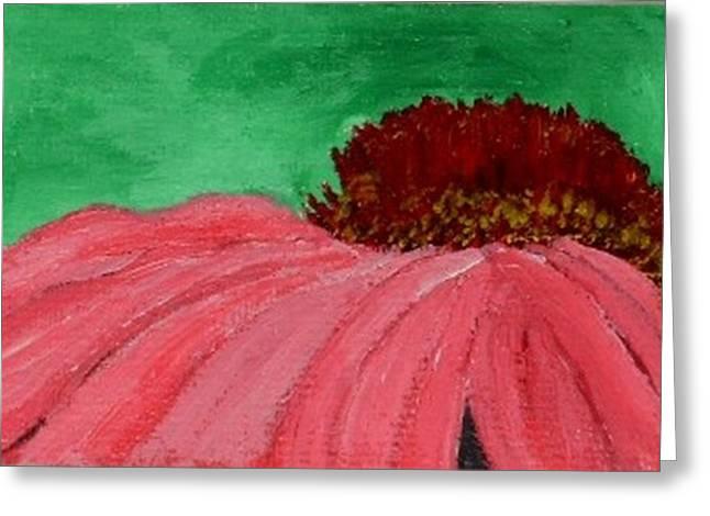 Cone Flower Greeting Card by Leslye Miller