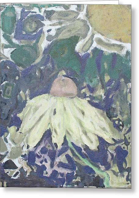 Coneflower Abstract Greeting Card by Sarah Pepper