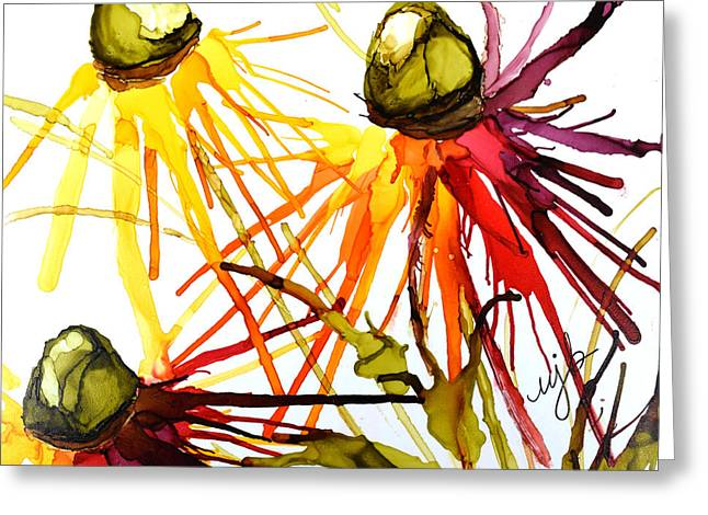Coneflower Cocktail Greeting Card by Marla Beyer