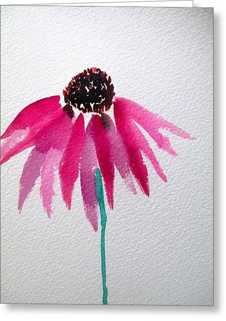 Coneflower Greeting Card by Sacha Grossel