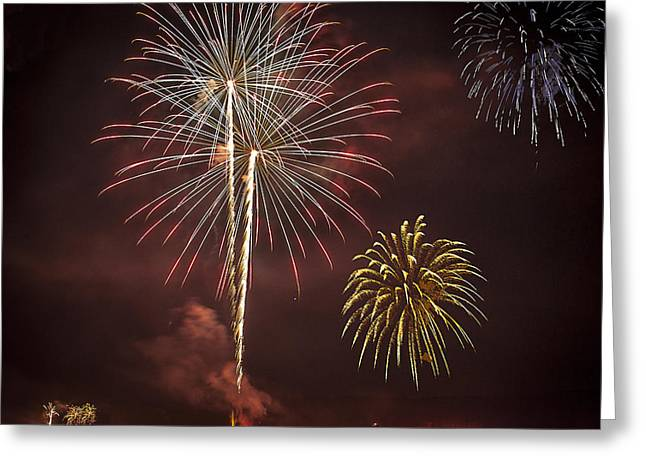 Conesus Ring Of Fire 2015 Greeting Card