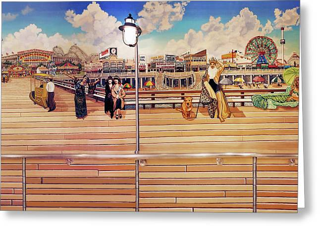 Coney Island Boardwalk Greeting Card