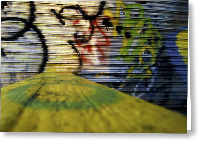 Coney Island Graffiti Greeting Card by Mike Lindwasser Photography