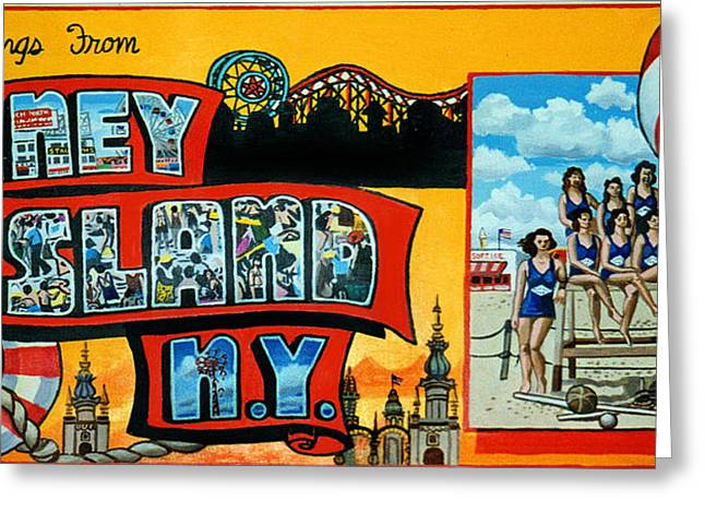 Coney Island New York Greeting Card