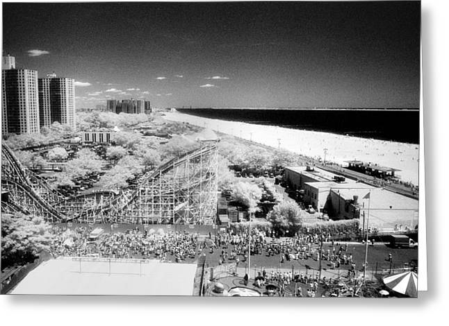 Greeting Card featuring the photograph Coney Island View 7 by Dave Beckerman