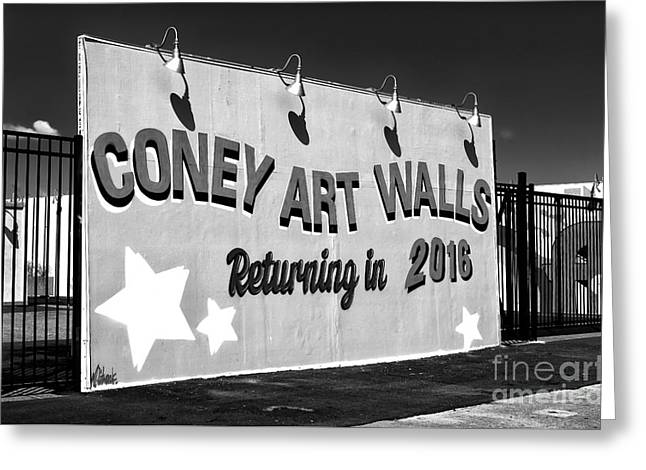 Coney Island Wall Art Returning In 2016 Greeting Card by John Rizzuto