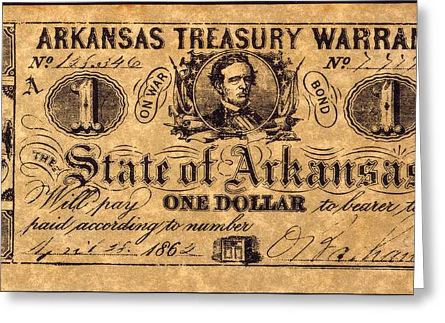 Confederate Banknote Greeting Card by Granger