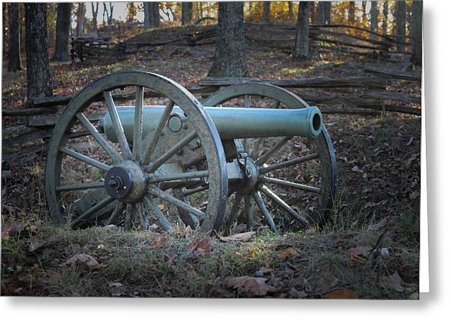 Civil War Cannon Greeting Card by Scott Franklin