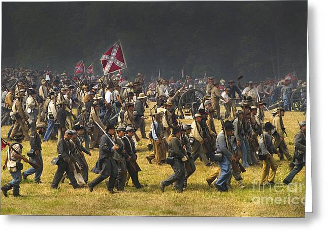 Confederate Charge At Gettysburg Greeting Card by Paul W Faust -  Impressions of Light
