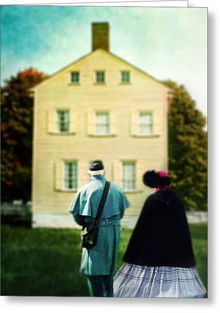 Confederate Couple Greeting Card