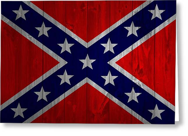 Confederate Flag Barn Door Greeting Card by Dan Sproul