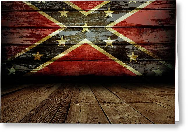 Confederate Flag On Wall Greeting Card