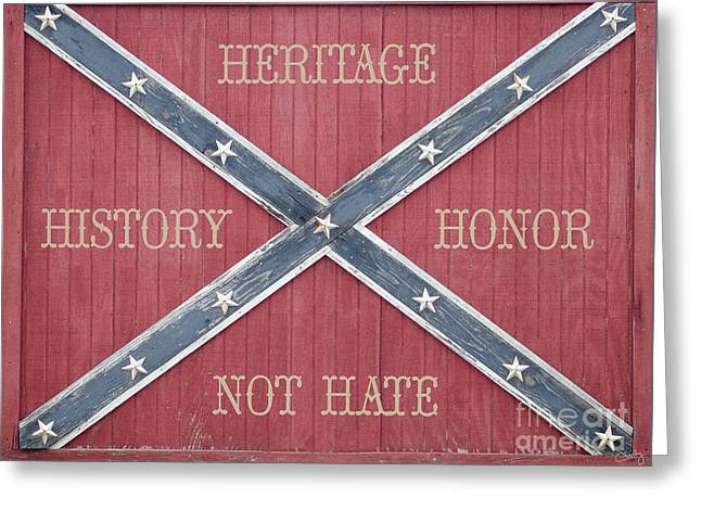 Confederate Flag On Wooden Door Greeting Card