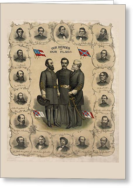 Confederate Generals Of The Civil War Greeting Card