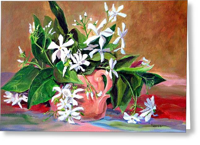 Confederate Jasmine Greeting Card by Jimmie Trotter