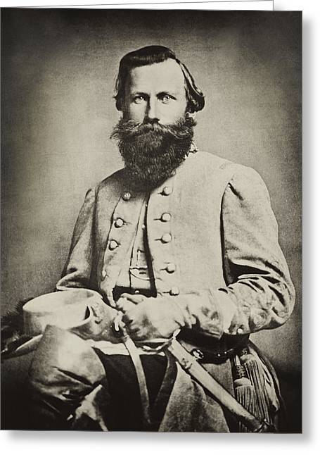 Impressions Of Light Greeting Cards - Confederate Jeb Stuart Greeting Card by Paul W Faust -  Impressions of Light