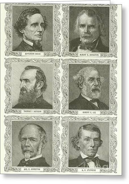 Confederate Leaders Greeting Card