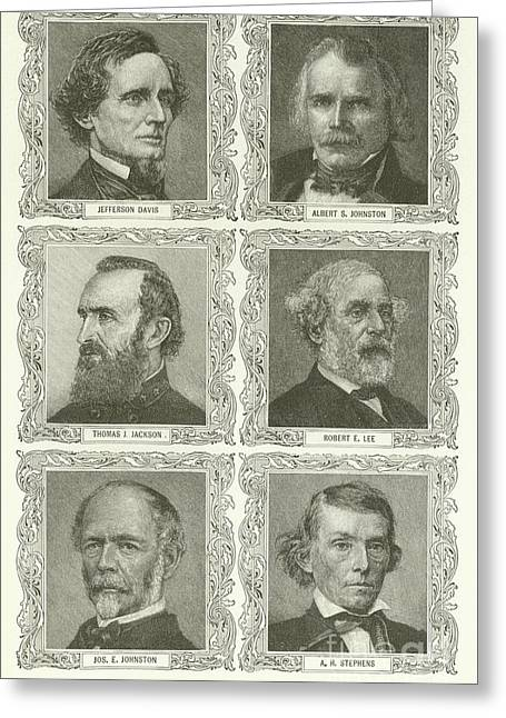 Confederate Leaders Greeting Card by American School