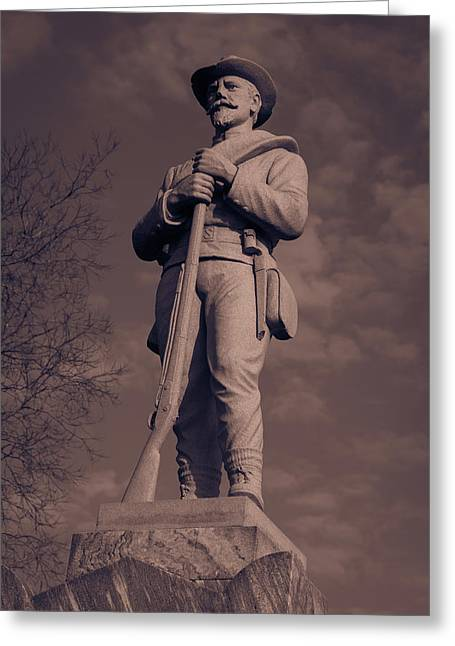 Confederate Statue  Standing Guard Greeting Card