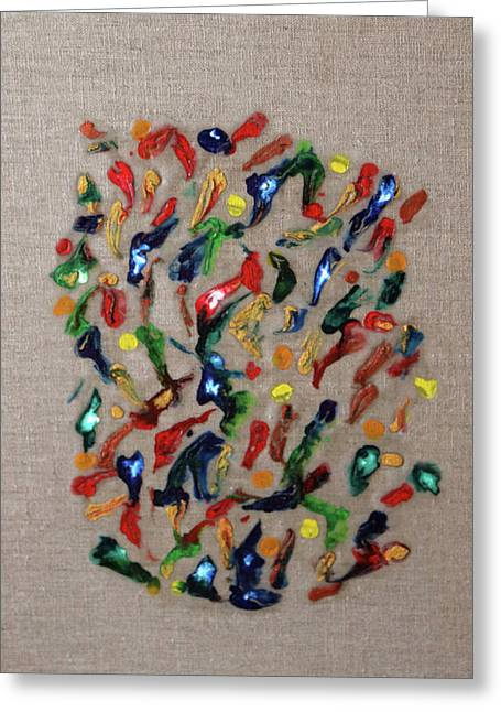 Greeting Card featuring the painting Confetti by Deborah Boyd