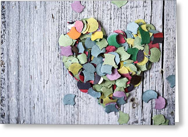 Confetti Heart Greeting Card
